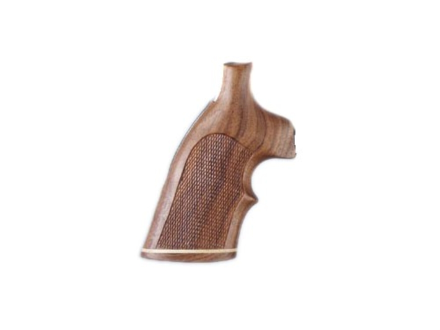 Hogue Fancy Hardwood Grips with Accent Stripe and Top Finger Groove Ruger Security Six Checkered