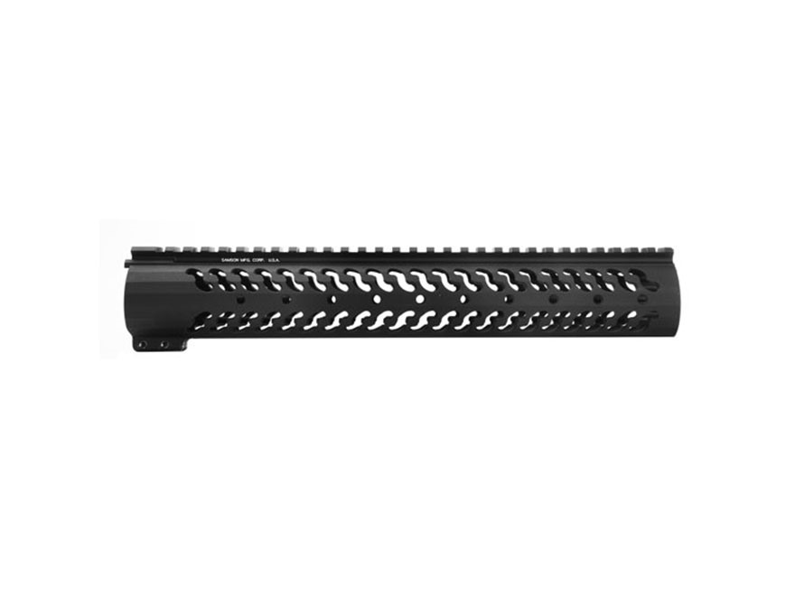 Samson Evolution Series Customizable Free Float Handguard DPMS LR-308 with Low Profile Upper Receiver Aluminum Black