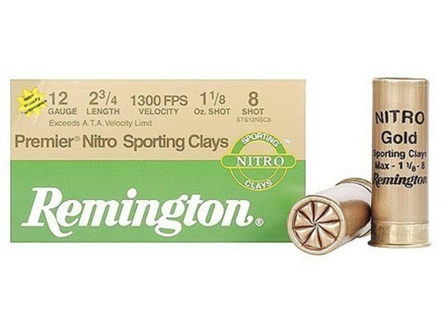 "Remington Premier Nitro Gold Sporting Clays Target Ammunition 12 Gauge 2-3/4"" 1-1/8 oz ..."