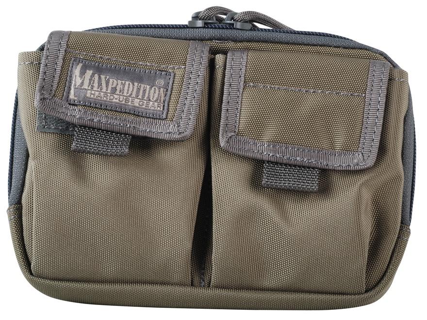 Maxpedition Hook-&-Loop Fastener Double Pocket Insert Nylon Khaki and Foliage Green