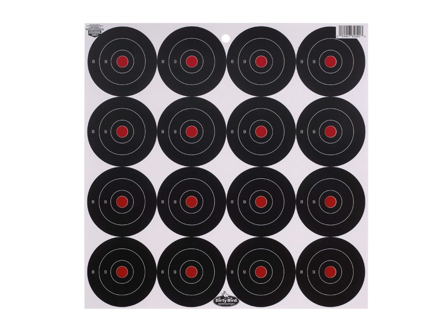 "Birchwood Casey Dirty Bird 3"" Bullseye Targets Package of 192"