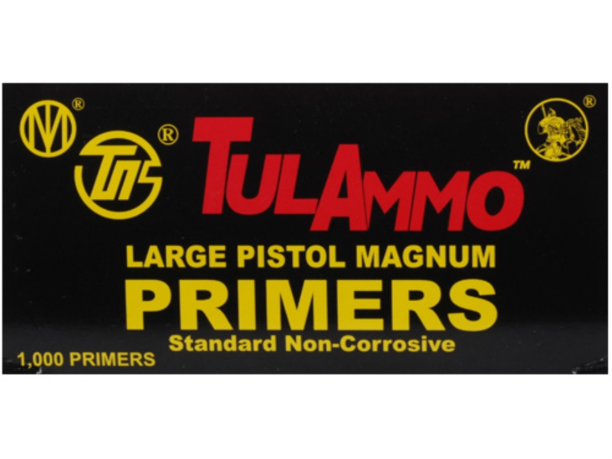 TulAmmo Large Pistol Magnum Primers Case of 5000 (5 Boxes of 1000)