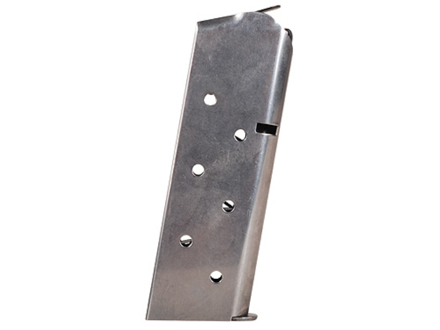 Colt Magazine 1911 Officer, Colt Defender, New Agent 45 ACP 6-Round Steel Nickel Plated