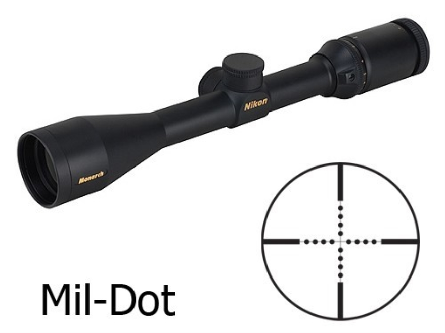 Nikon Monarch Rifle Scope 2.5-10x 42mm Mil-Dot Reticle Matte