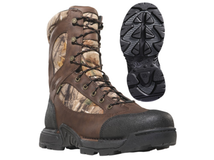 "Danner Pronghorn GTX 8"" Waterproof 1200 Gram Insulated Hunting Boots Leather and Nylon Realtree AP Camo Mens 7 D"
