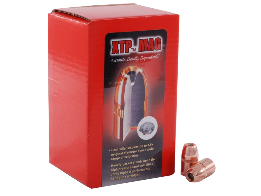 Hornady XTP Mag Bullets 45 Caliber (452 Diameter) 300 Grain Jacketed Hollow Point Magnum Box of 50