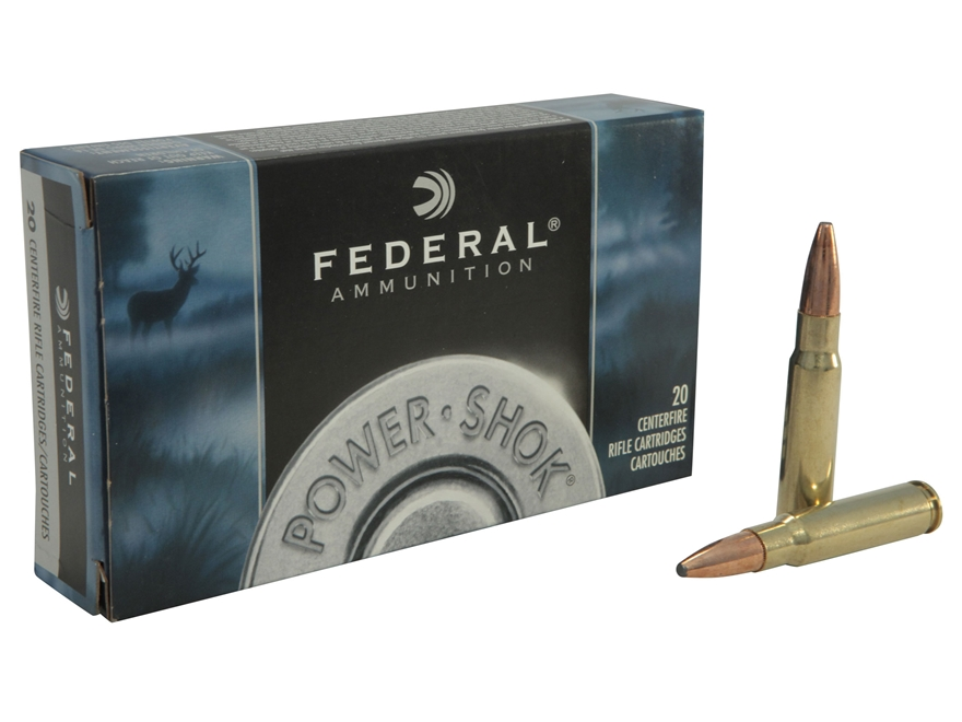 Federal Power-Shok Ammunition 338 Federal 200 Grain Uni-Cor Soft Point Box of 20