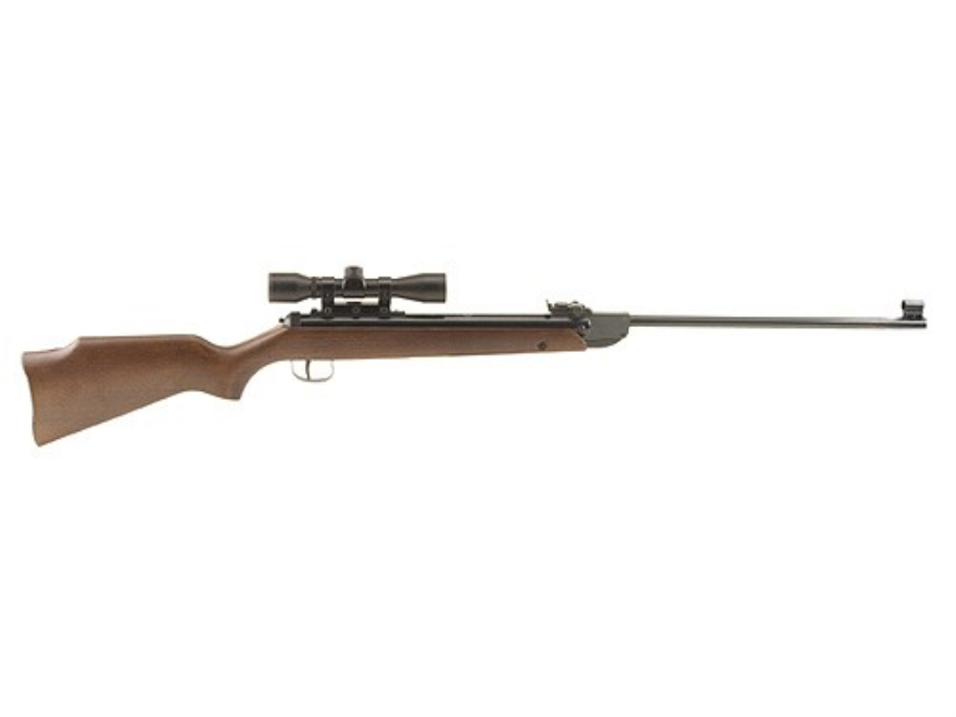 RWS 34 Air Rifle 177 Caliber Pellet Wood Stock Blue Barrel with RWS Airgun Scope 4x 32mm Matte
