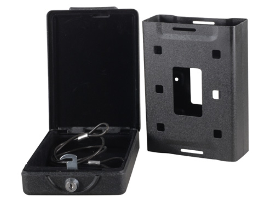 "Bulldog Car Vault Security Box with Mounting Bracket 7"" x 5.25"" x 2"" Steel Black"