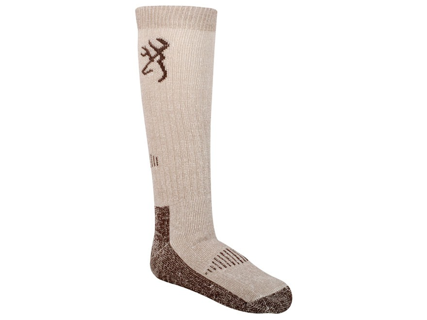 Browning Men's Deluxe Merino Socks Wool Blend Brown Large 10-13