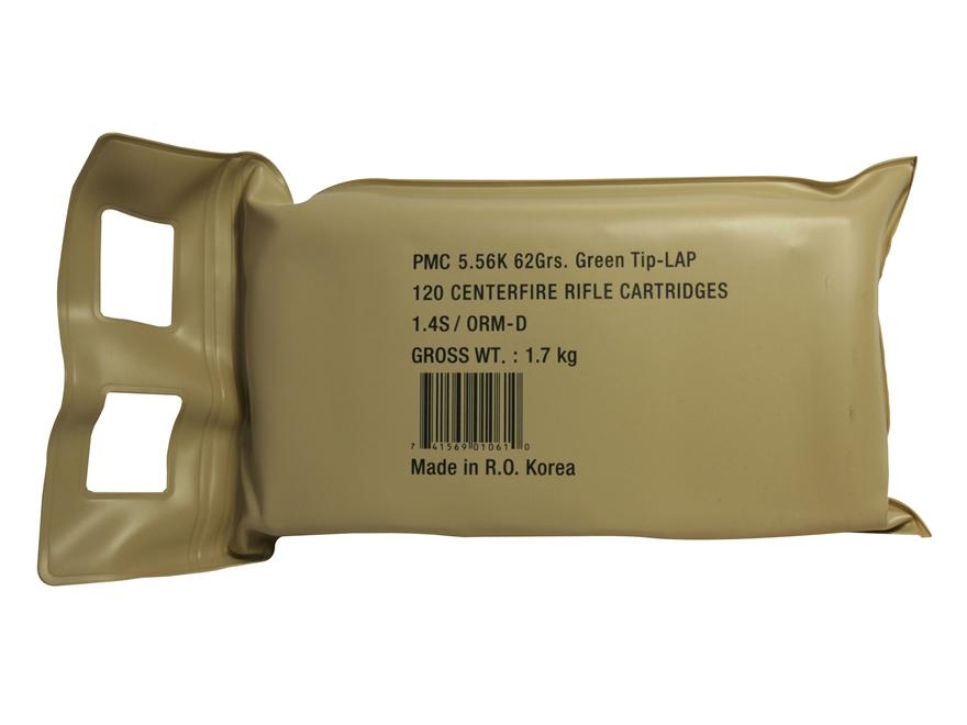 PMC X-Tac Ammunition 5.56x45mm NATO 62 Grain M855 SS109 Penetrator Full Metal Jacket