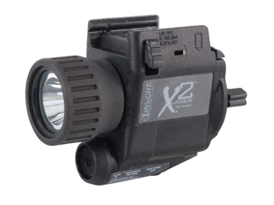 Insight Tech Gear X2LTactical Illuminations Flashlight with Laser LED  Slide Lock Mount Black