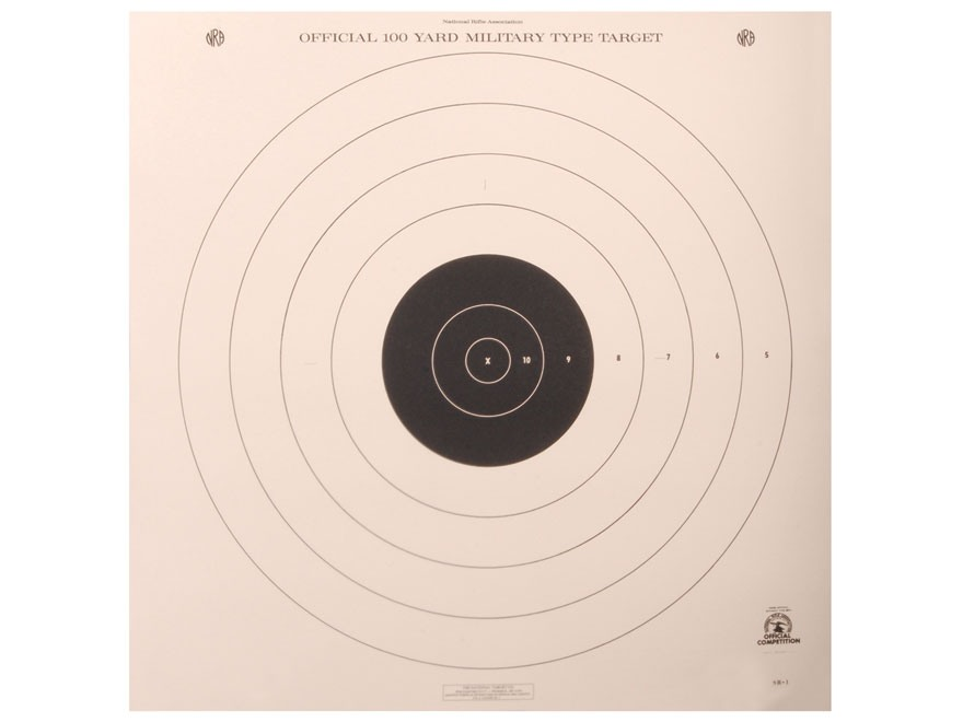 NRA Official High Power Rifle Targets SR-1 100 Yard Slow and Rapid Fire Paper Package o...