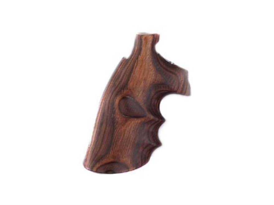Hogue Fancy Hardwood Grips with Finger Grooves Colt Trooper Mark III