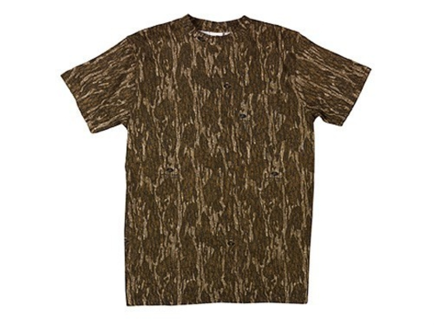 Russell Outdoors Men's Explorer T-Shirt Short Sleeve Cotton Mossy Oak New Bottomland Camo Medium 38-40