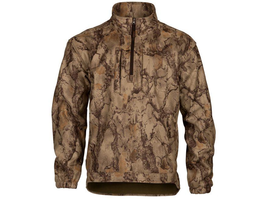 Natural Gear Men's Windproof Fleece 1/2 Zip Jacket Long Sleeve Fleece