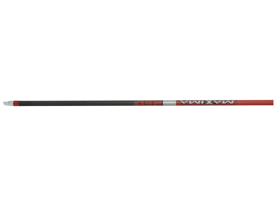 Carbon Express Maxima Red 250 Carbon Arrow Shaft Black Pack of 12