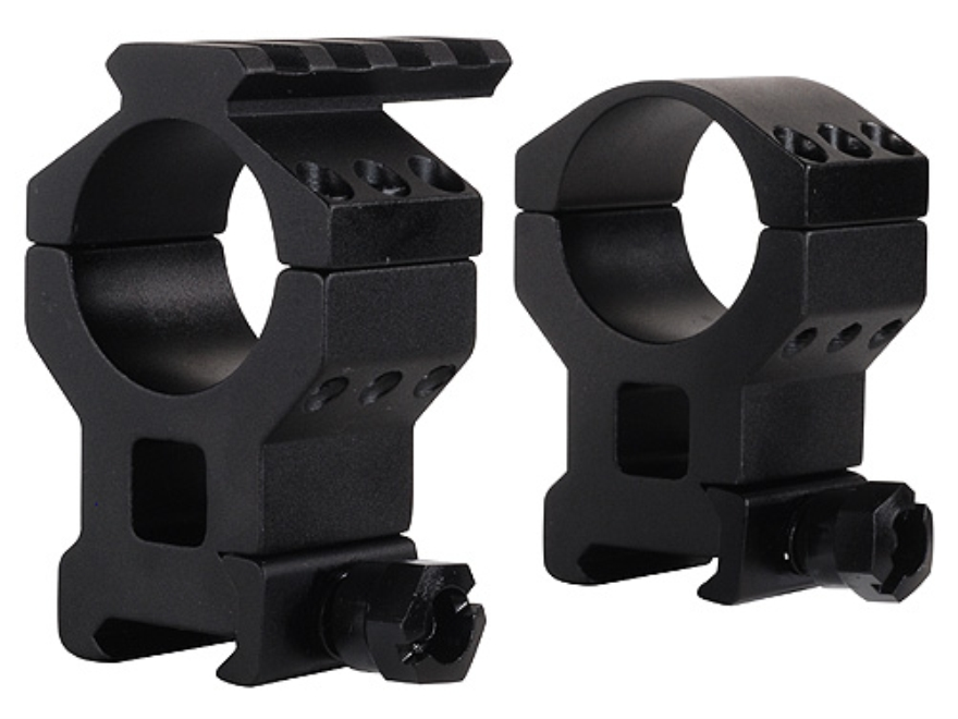 Millett 30mm See-Thru Picatinny-Style Tactical Rings with Accessory Rail Matte High