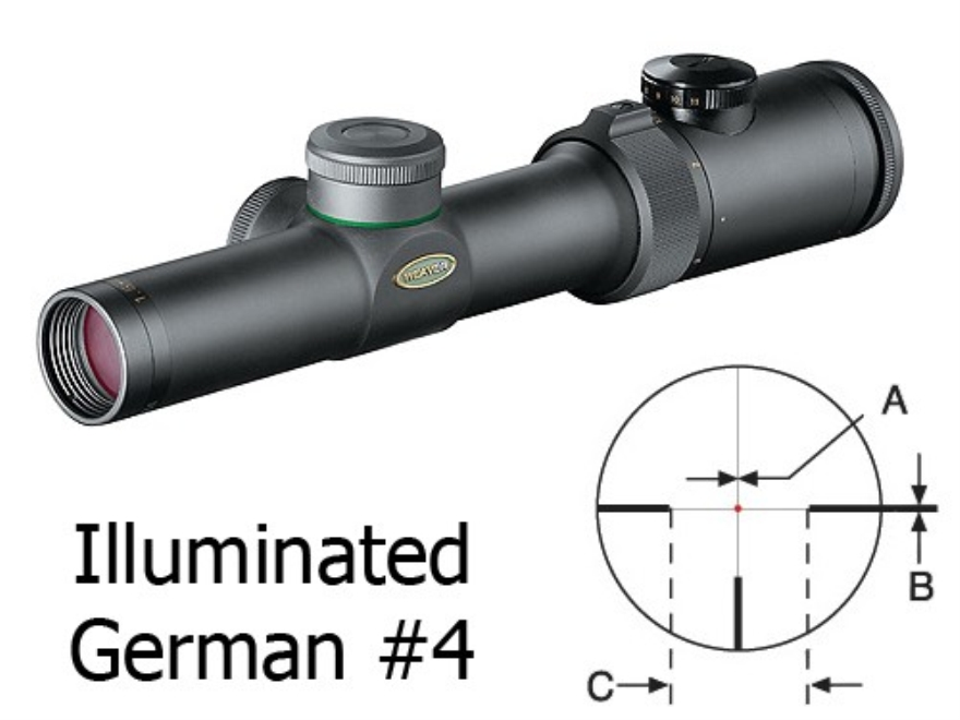 Weaver Classic Extreme Rifle Scope 30mm Tube 1.5-4.5x 24mm Illuminated Dot #4 Reticle Matte