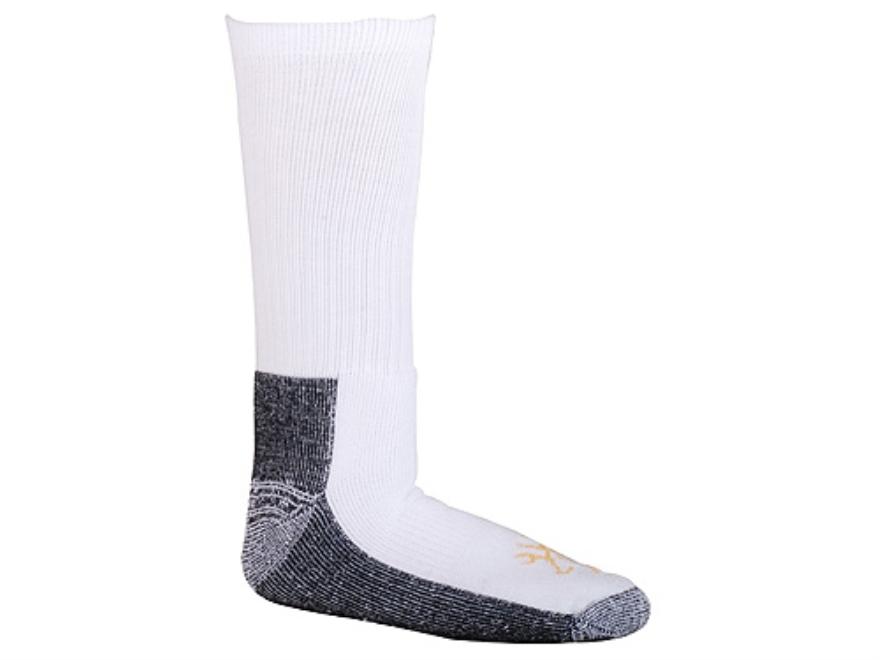 Browning Men's Work Boot Socks Synethic Blend White Large 10-13
