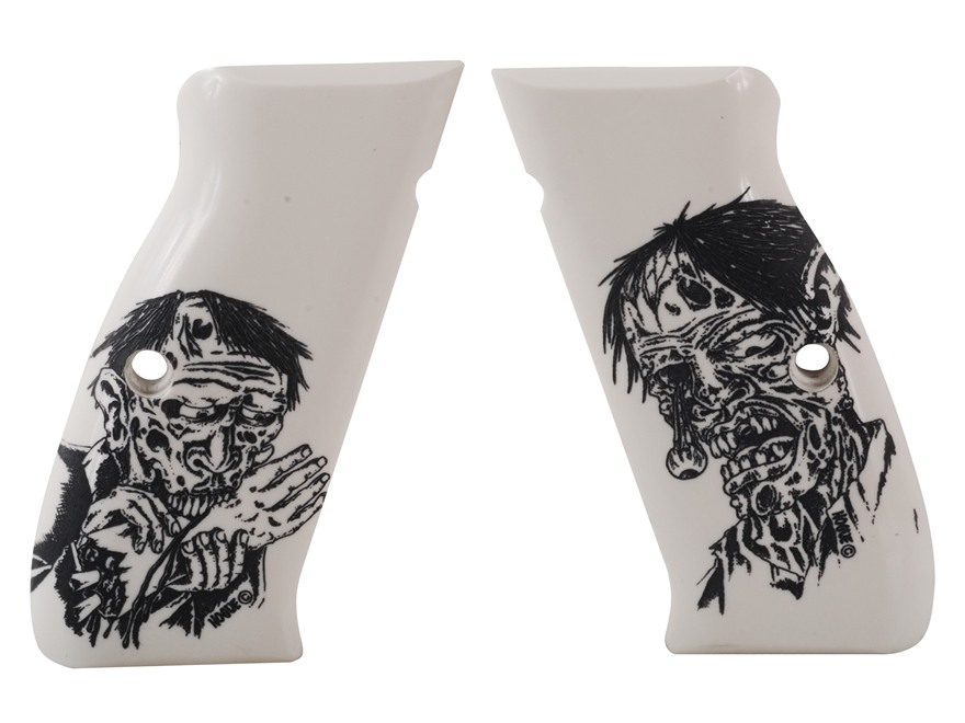 Hogue Grips CZ75 Ivory Polymer Zombie Pattern