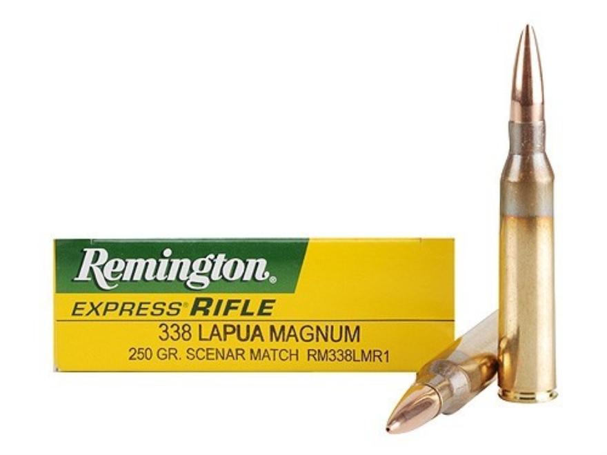 Remington Express Ammunition 338 Lapua Magnum 250 Grain Lapua Scenar Match Box of 20