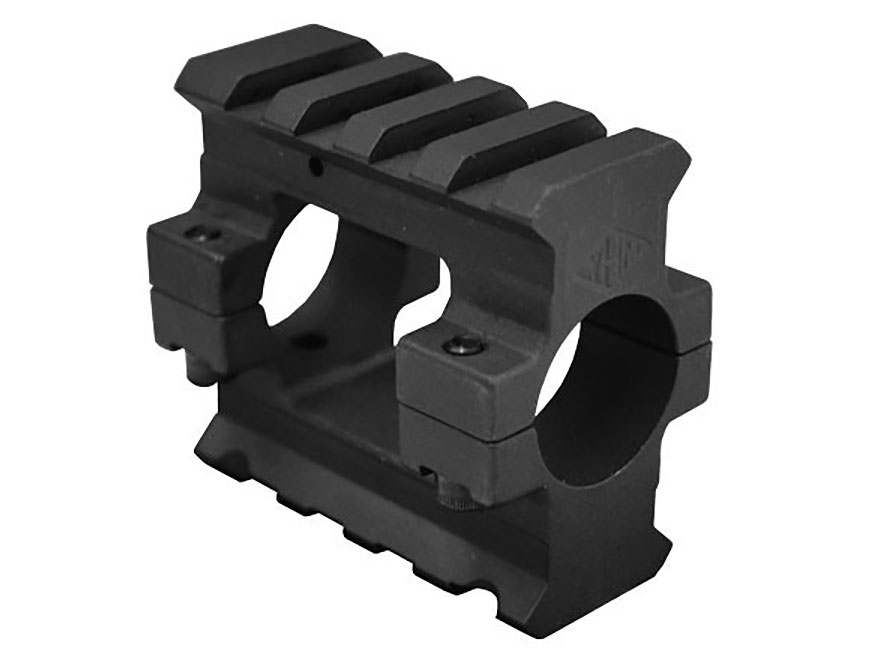 "Yankee Hill Machine Gas Block 2 Picatinny Rail AR-15, LR-308 Standard Barrel .750"" Inside Diameter Steel Matte"