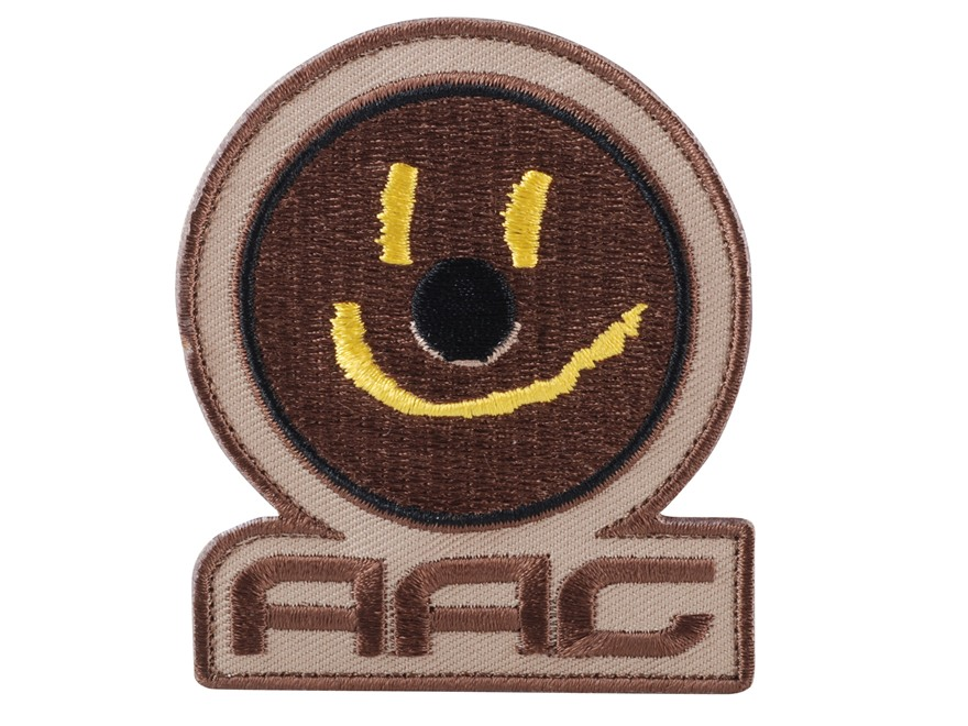 Advanced Armament Co (AAC) Smiley Face Patch Hook-&-Loop Fastener Tan