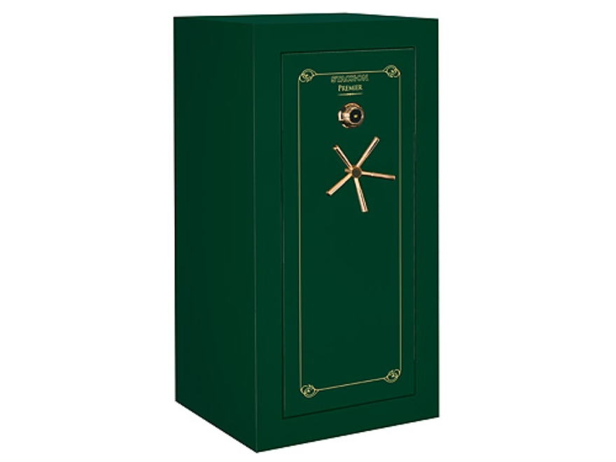Stack-On Premier 32-Gun Fire-Resistant and Waterproof Safe with a UL Rated Combination Lock High Gloss Hunter Green