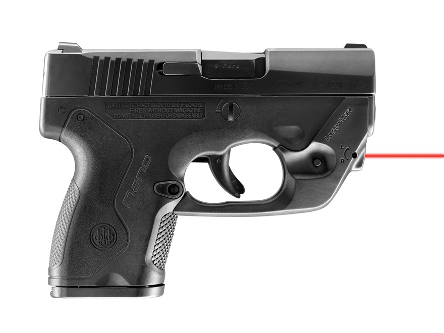 LaserMax Centerfire Red Laser Sight Beretta Nano Black