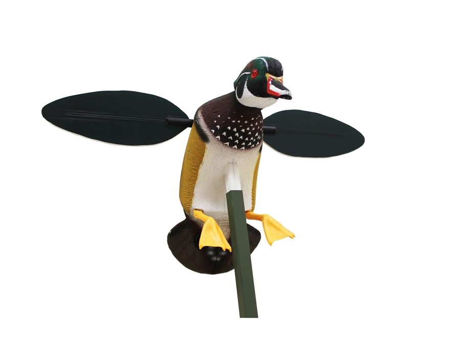 MOJO Screamin' Woody Motion Wood Duck Decoy Polymer