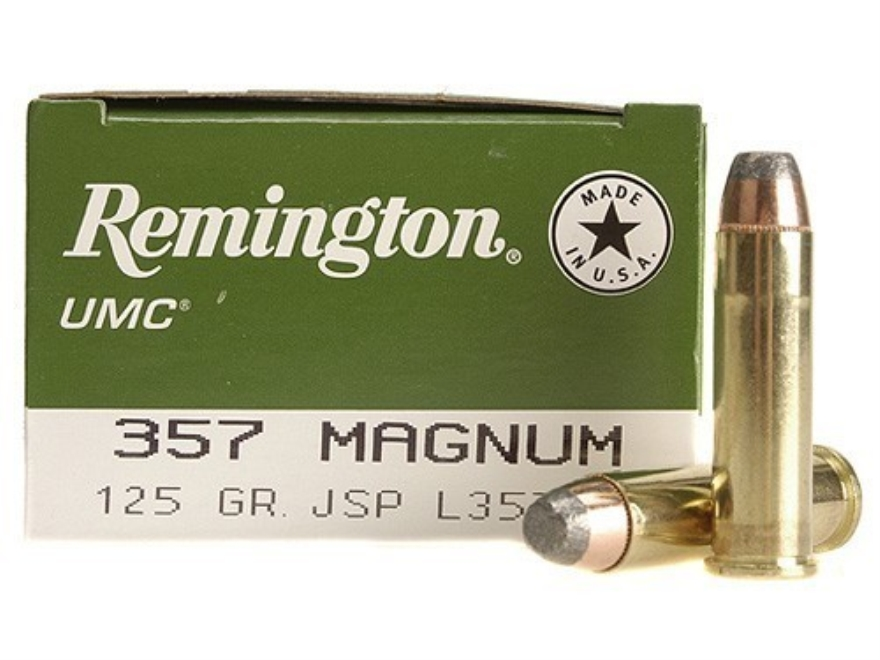 Remington UMC Ammunition 357 Magnum 125 Grain Jacketed Soft Point