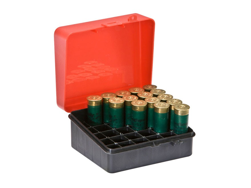 Plano Shotgun Shell Box 12, 16 Gauge 25-Round Plastic Red