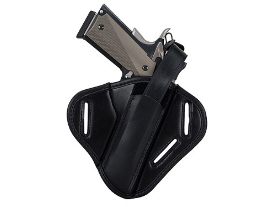 "Uncle Mike's Super Belt Slide Holster Ambidextrous Medium, Large Frame Semi-Automatic Mirage 3.25"" to 3.75"" Barrel Nylon Laminate Black"