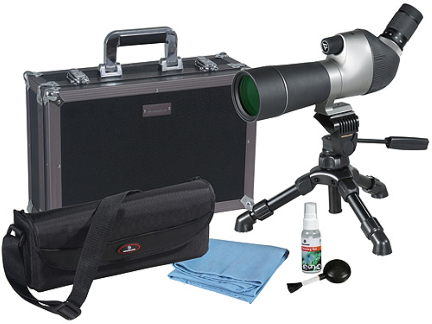 Vanguard High Plains 560 Spotting Scope 15-45x 60mm Angled Body with Tripod and Hard Case Gray/Black