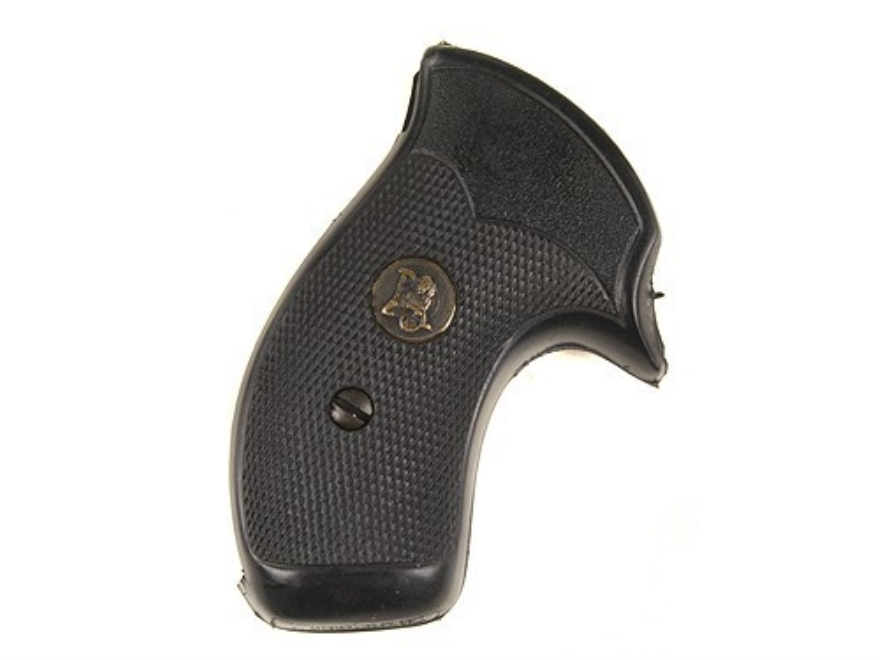 Pachmayr Compac Professional Grips S&W J-Frame Round Butt Rubber Black