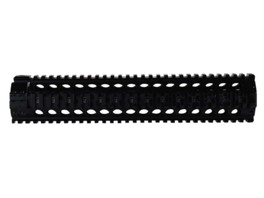 Midwest Industries Gas Piston Free Float Tube Handguard Quad Rail AR-15 Rifle Length Aluminum Black