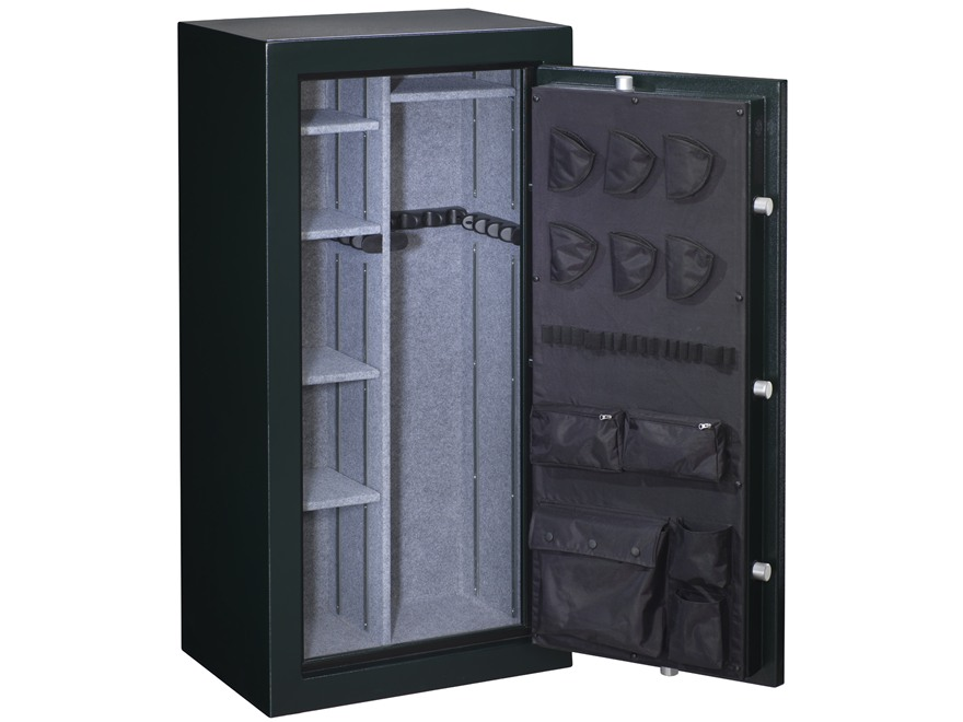 Stack-On Elite Fire-Resistant 24-Gun Safe with Combination Lock Matte Hunter Green with Door Storage