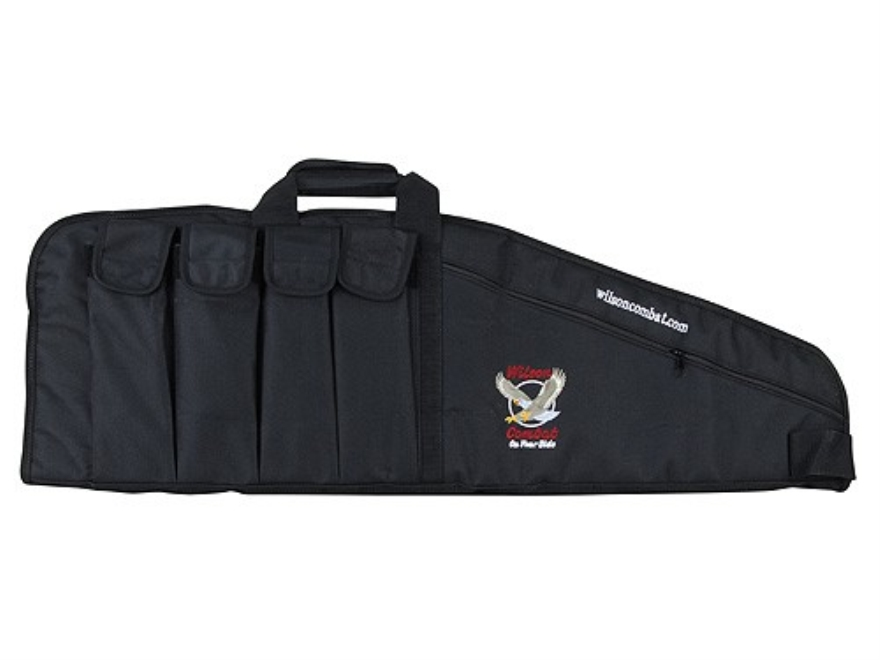 "Wilson Combat Tactical Rifle Gun Case 35"" with 4 Pockets Nylon Black"