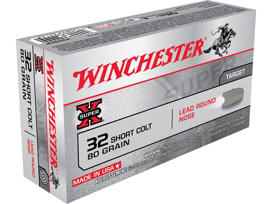 Winchester Super-X Ammunition 32 Short Colt 80 Grain Lead Round Nose