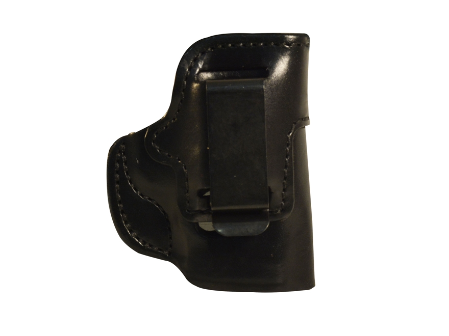 DeSantis Inside Heat Waistband Holster Colt Officer, Defender, New Agent 45, Kimber Ultra Carry, CDP, Para P10, P12 Leather Black