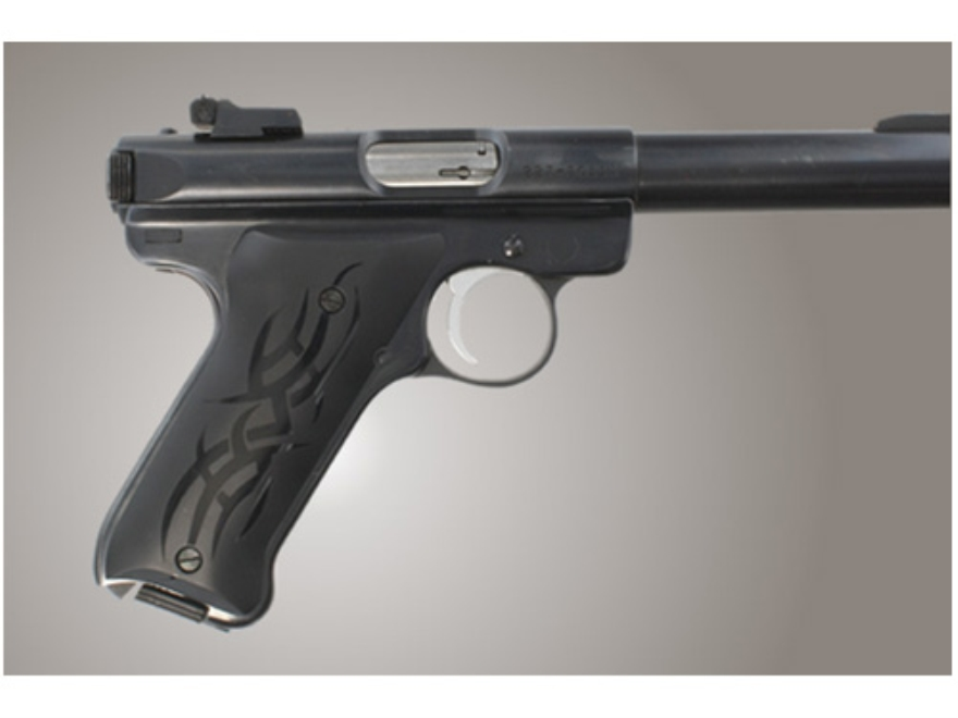 Hogue Extreme Series Grip Ruger Mark II, Mark III Tribal Aluminum Black