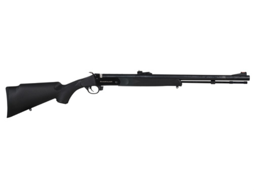 "Traditions BuckStalker Muzzleloading Rifle 50 Caliber Synthetic Stock Black 24"" Blue Barrel"