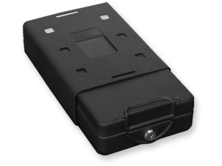 "Bulldog Car Vault Security Box with Mounting Bracket 10"" x 6.4"" x 2"" Steel Black"