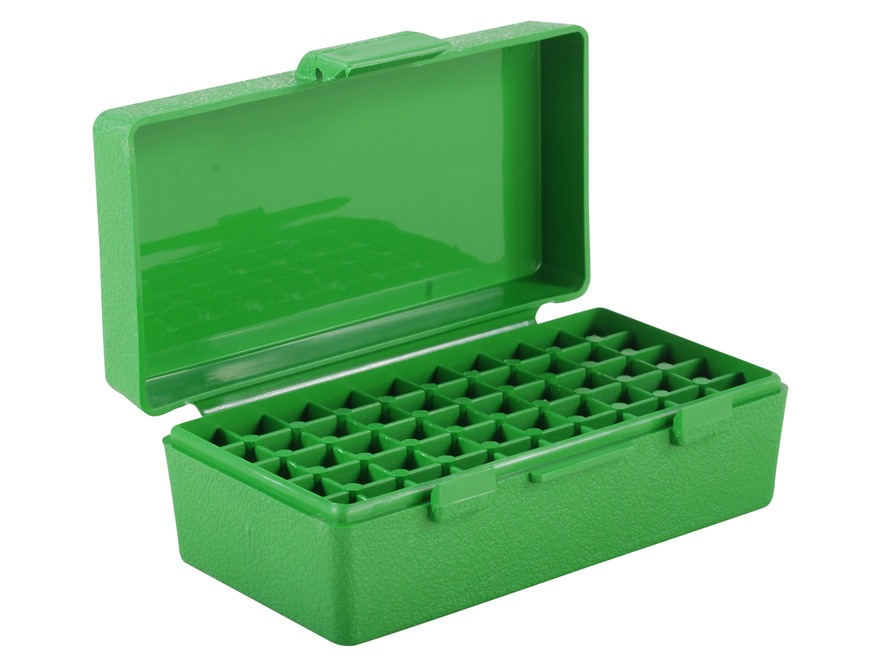 MTM Flip-Top Ammo Box 25 ACP to 32 S&W Long 50-Round Plastic Green