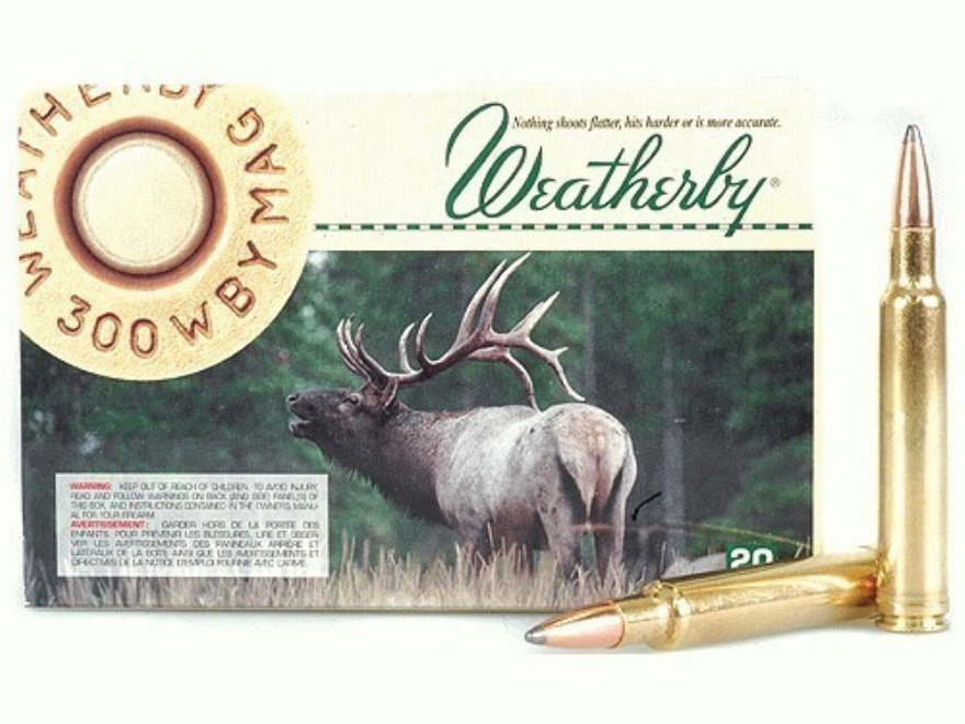 Weatherby Ammunition 300 Weatherby Magnum 150 Grain Nosler Partition Box of 20