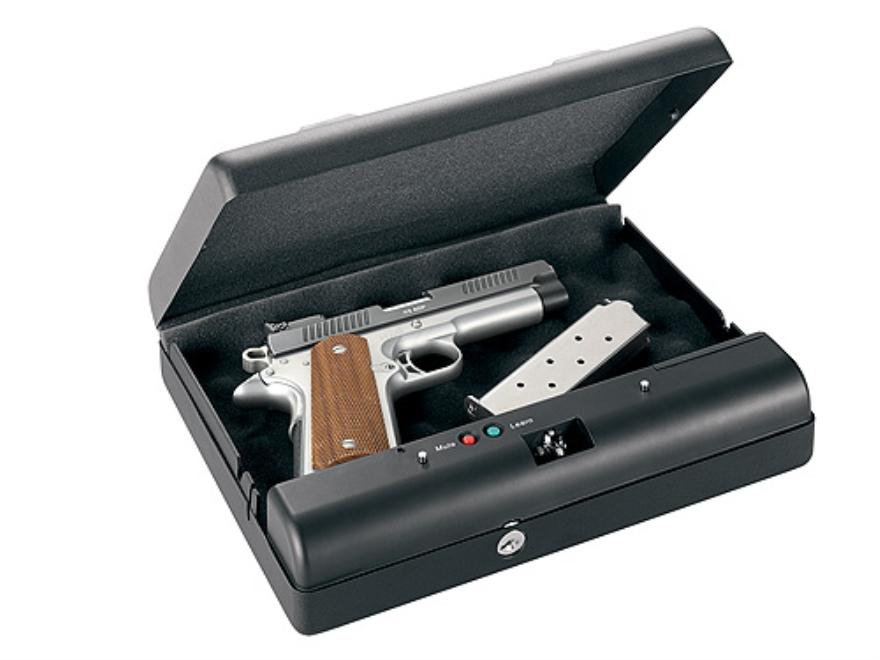 "GunVault Biometric MicroVault Personal Electronic Safe 11"" x 8"" x 2"" Black"