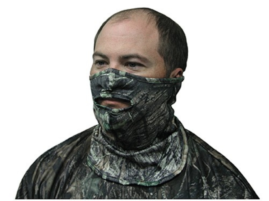 Primos Stretch-Fit 1/2 Face Mask Polyester Mossy Oak Break-Up Camo