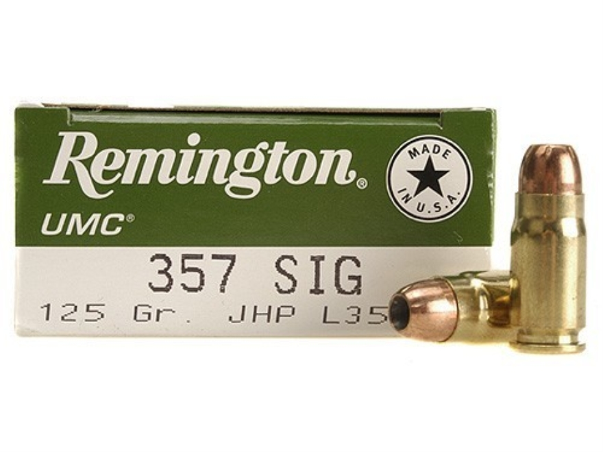Remington UMC Ammunition 357 Sig 125 Grain Jacketed Hollow Point Box of 50