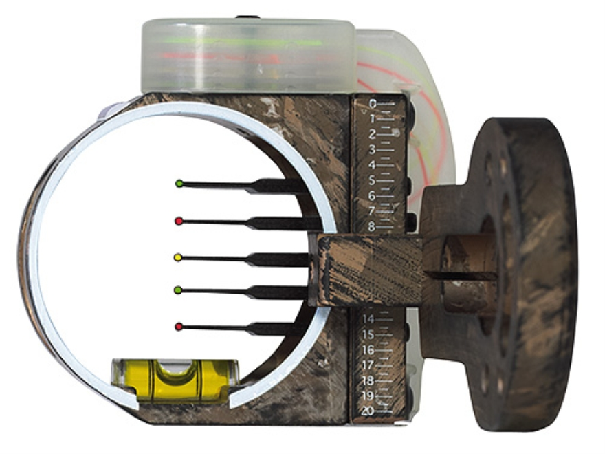 "Montana Black Gold Flashpoint 5-Pin Bow Sight .019"" Pin Diameter Right Hand Aluminum Camo"